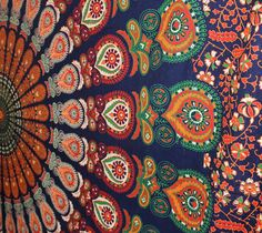 Hey, I found this really awesome Etsy listing at https://www.etsy.com/listing/211784148/mandala-peacock-tapestry-indian-wall