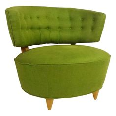 Mid Century Slipper Chair - $600. Awesome. Except for the price tag Would look fab with our couch