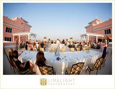 Hyatt Regency Clearwater Beach, Bride, Groom, Wedding Guests, Dinner, Wedding Photography, Limelight Photography, www.stepintothelimelight.com