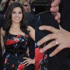 Photo of America Ferrera Celebrity Wedding Rings, Celebrity Weddings, America Ferrera, Engagement Celebration, My Engagement Ring, Curvy Girl Fashion, Unique Weddings, Wedding Unique, Beautiful Curves