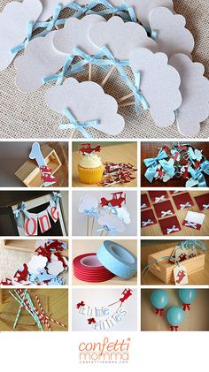 Up Up and Away Party Decor ships in 1-3 by ConfettiMommaParty
