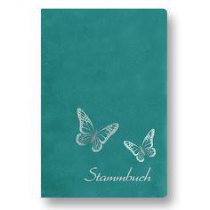 """Stammbuch der Familie """"Butterfly"""" Familienbuch Stammbücher - Standard türkis in…"""