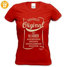 Modisches 60. Jahre Fun Girlie T-Shirt zum Damen und Mädchen Geburtstag Original seit 60 Jahren Farbe: rot Gr: L (*Partner-Link)