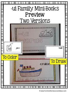 Printable Phonics Mini-Books for the -ui Family #TPT $Paid