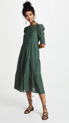 See by Chloe Pouf Sleeve Maxi Dress Backless Maxi Dresses, Maxi Dress With Sleeves, Sexy Dresses, Dress Skirt, Trendy Dresses, Party Dresses, Casual Dresses, Cheap Online Clothing Stores, Clothing Websites