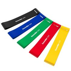 Resistance Bands – Best Exercise Loop Band Set of 5 - FREE EBOOK - Workout Equipment for Yoga Crossfit Fitness Pilates Strength Physical Therapy Mobility Recovery – Training Body Legs Glutes Butt: Amazon.de: Sport & Freizeit