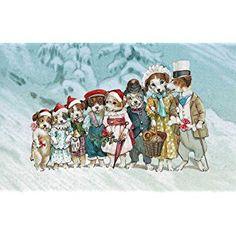 Roger la Borde Dog Lineup Boxed Christmas Cards