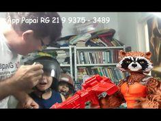 Rocket Raccoon Guardiões da Galáxia Marvel Papai RG Filhos bonecos Brinq...