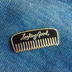 Look Good Enamel Pin by YardsalePress on Etsy https://www.etsy.com/listing/465426107/look-good-enamel-pin