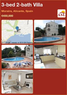3-bed 2-bath Villa in Moraira, Alicante, Spain ►€450,000 #PropertyForSaleInSpain