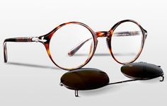 LES LUNETTES PERSOL CLIP-ON SHADES COLLECTION