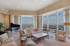 Billionaire Socialite Re-Lists Time Warner Penthouse for $50M - Blockbusters - Curbed NY