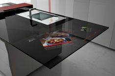 arbeitsplatten für küchen  glas mattiert elegantes design