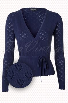 King Louie  Wrap Heart Cardigan Blue  110 39 12281 20140115 0002W (2)