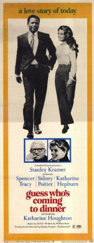 Guess Who's Coming to Dinner Movie Poster (14 x 36 Inches - 36cm x 92cm) (1967) Insert -(Katharine Hepburn)(Spencer Tracy)(Sidney Poitier)(Katharine Houghton)(Cecil Kellaway)(Beah Richards)