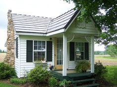 Tiny Caregiver Cottage with Barber Shop | Tiny House Pins