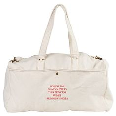 FORGET-THE-GLASS-SLIPPERS-OPT-RED Duffel Bag on CafePress.com