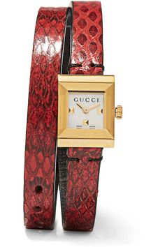 Gucci - Ayers And Gold-tone Watch - Red - one size