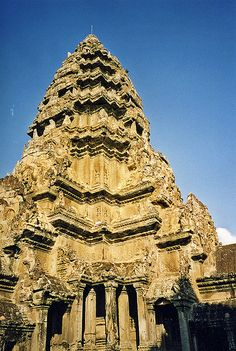 Ancient Architecture:  Central Tower, Angkor Wat, Cambodia