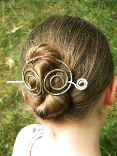 Hair Cup Hair Accessories Metal Hair Clip by ElizabellaDesign, $22.50