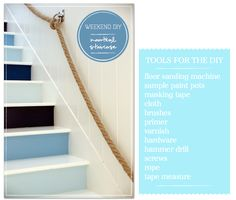 DIY Home Decor Nautical Staircase
