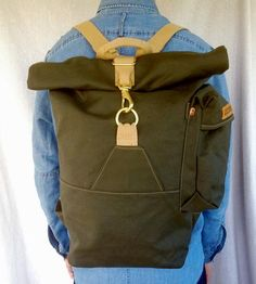 Canvas Rolltop Backpack