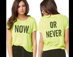 Now or never t-shirt @ Aeropostale : Bethany Mota collection
