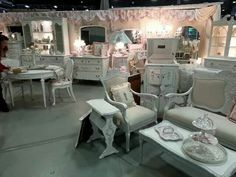 Lovely white booth display