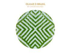 Olhar o Brasil by Chicô Gouvêa | Green Dinner Plate