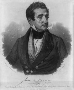 Joseph Hernandez, first delegate to Congress from the Florida Territory and brigadier general of the Militia of Florida. Between 1850 and 1857. Prints and Photographs Division. From the LC Blog - Celebrating Hispanic Heritage: Cultural Contributions