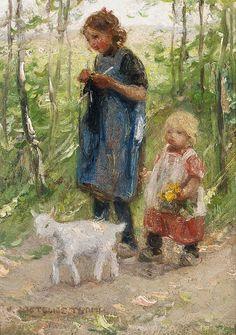 """""""Idilio primaveral"""" - """"Spring idyll"""" - Johann Jan Zoetelief Tromp (1872-1947) Pintor holandés de paisajes y escenas de género , trabajó principalmente en óleo y acuarela."""