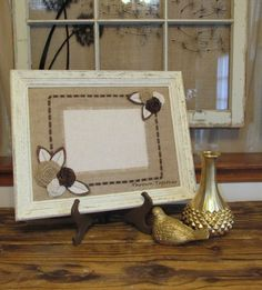 Wood Picture Frame Distressed Wood Frame Natural by ThrownTogether