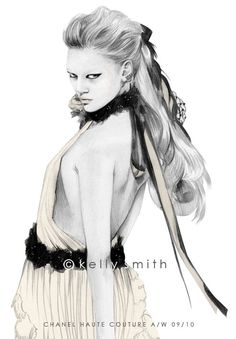 Birdy & Me : Illustrations & Musings by Kelly Smith: haute COUTURE (detail)