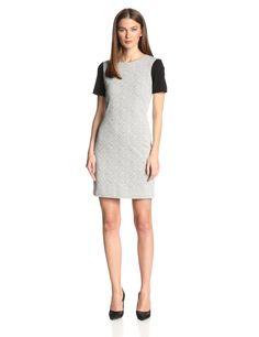 Diamond Crosshatch Shortsleeve Dress by 4.collective