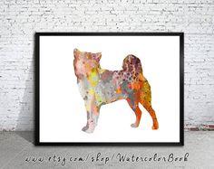 Shiba Inu 4 Watercolor Print Shiba Inu art dog by WatercolorBook