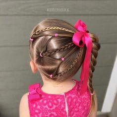 "1,022 Likes, 25 Comments - Cami Toddler Hair Ideas (@toddlerhairideas) on Instagram: ""Side ponies, braids, and elastics up to a high side braid! This took some extra time, so keep that…"""