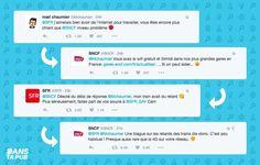 la SNCf et SFR se repondent sur Twitter