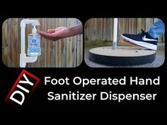 How to make Foot Operated Hand Sanitizer Dispenser   DIY - YouTube Pvc Projects, School Projects, Alcohol En Gel, Hand Sanitizer Dispenser, Homemade Signs, Wash Stand, Pvc Pipe, Diy Hacks, Cool Diy