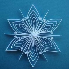 quilled snowflake for christmas decorating