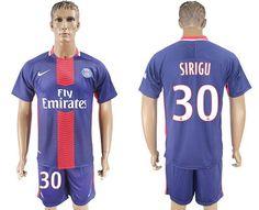 Paris Saint-Germain #30 Sirigu Home Soccer Club Jersey