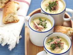 Hearty pea and ham soup, pea recipe, brought to you by recipes+ Pea Recipes, Cooking Recipes, Pea And Ham Soup, Christmas Ham, How To Cook Ham, Gluten Free Chicken, Easy Peasy, Cheeseburger Chowder, Dishes
