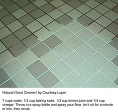 Natural Grout Cleaner - Tried this and LOVED it! It works great!