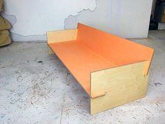 painted plywood sofa orange 1 Jason VanHoose pinterest