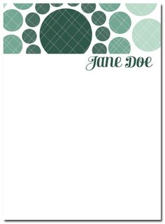 Minty Fresh Personalized Notecards