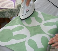 Using Freezer paper as stencils and fabric paint to fill in the designs, can be used for pretty much any occation