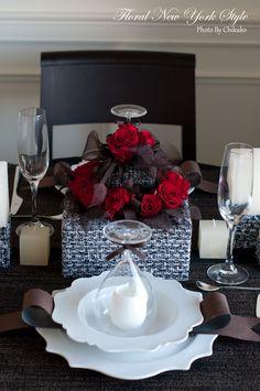 Table Decorations / Table Settingsツイードのテーブルコーディネート♡グランドハイアット東京 フローラルニューヨーク・大塚智香子のスタイルのある暮らし 25ansオンライン