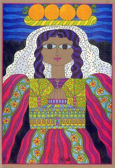 Dar al-Fataal-Arabi, 1977 (Helmi el-Touni) - Really like the colors and the naive style.