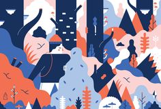 """Check out this @Behance project: """"Field Mag Illustration"""" https://www.behance.net/gallery/37673027/Field-Mag-Illustration"""