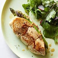 Ham-and-Asparagus-Stuffed Chicken - made this for dinner tonight but replaced the ham with Swiss cheese. Outstanding!
