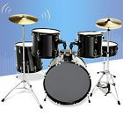 5 Piece Complete Adult Drum Set Cymbals Full Size Kit w/ Stool & Sticks Black Drum Sets For Sale, Diy Light Shade, Light Shades, Drum Key, Drum Pedal, Drum Solo, Drum Lessons, How To Play Drums